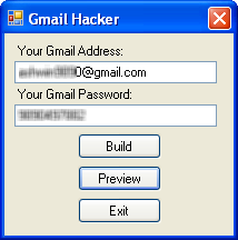 Hacking Gmail Account Password using Gmail Hacker Software