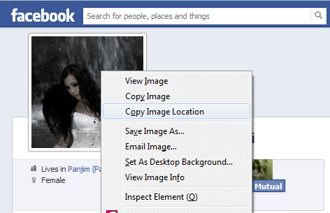 Facebook hack: Enlarge locked profile picture