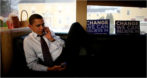 Barack Obama iphone ban