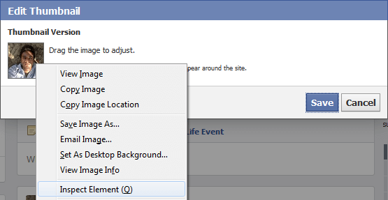 inspect elements facebook