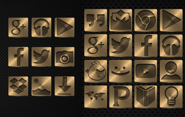 gold beautiful ICON packs for Android