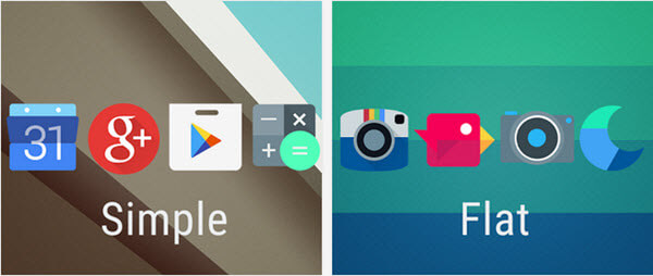 beautiful ICON packs for Android
