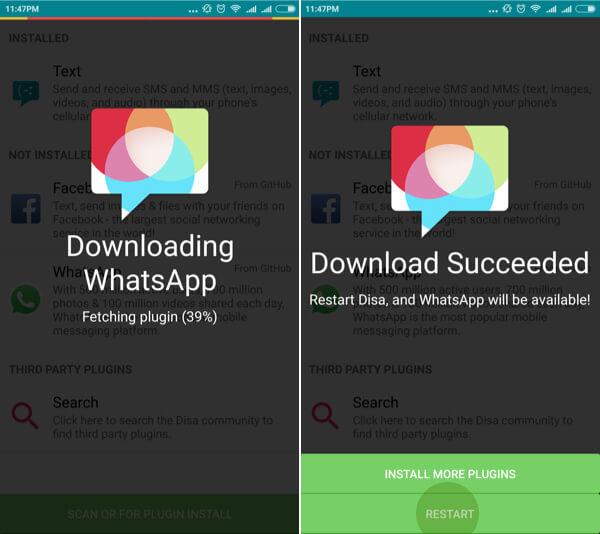 2 whatsapps on single phone - step2