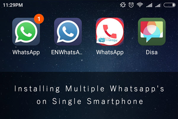 how to use multiple whatsapp in one android phone