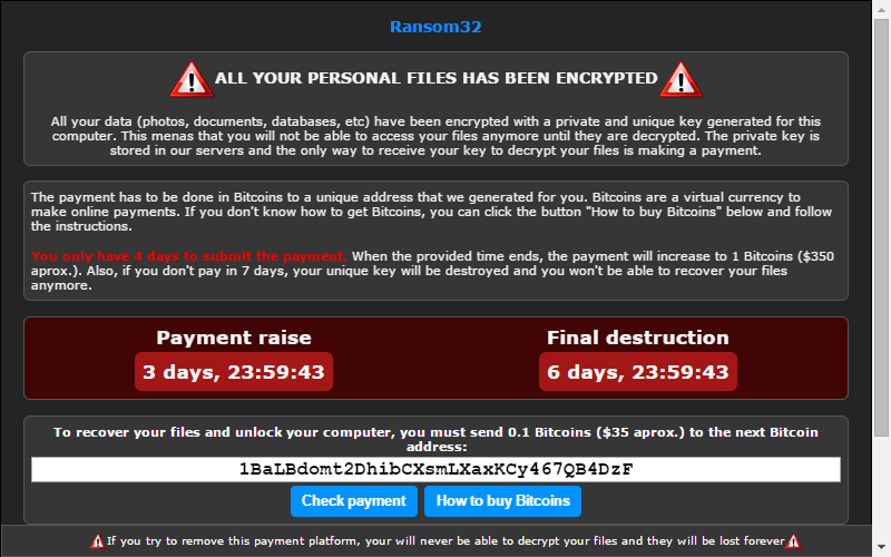 ransomware payment script