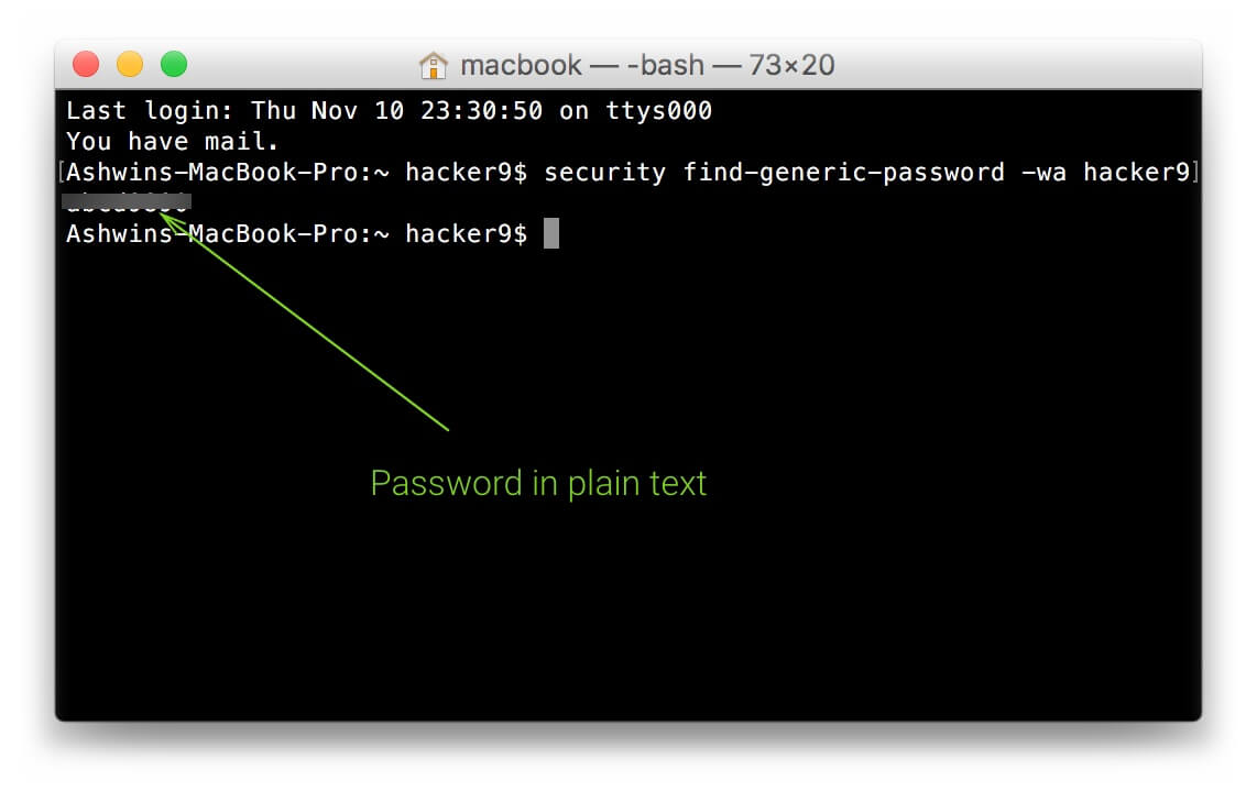 reveal wifi password on Mac