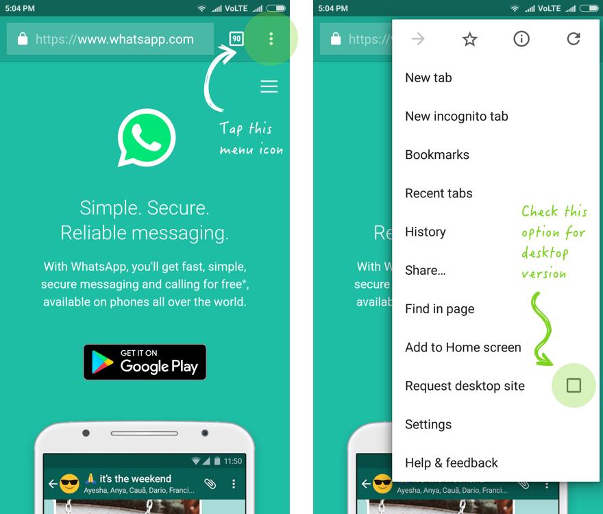 Quickest way to hack whatsapp step 1