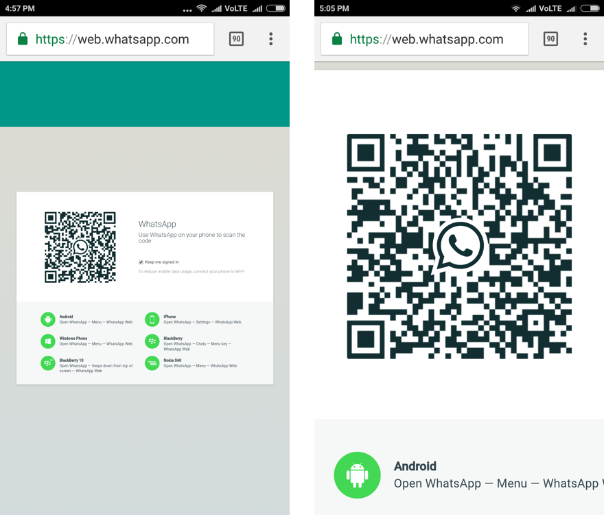 scan the qr code to hack whatsapp step 2