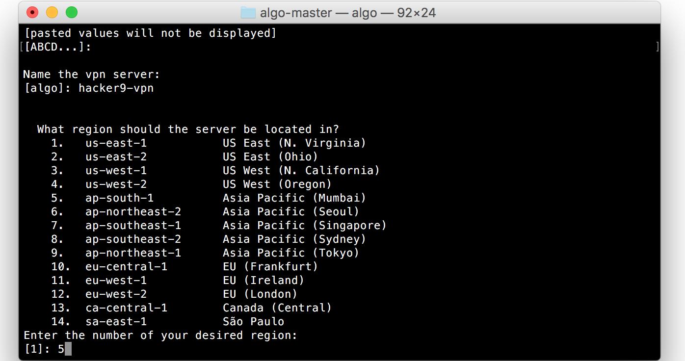 choose vpn server location