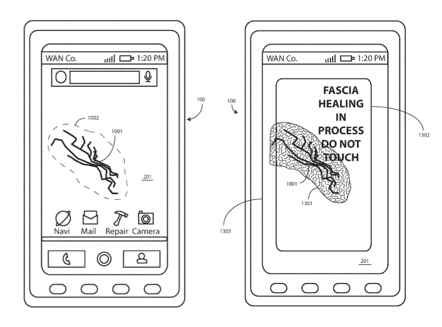 patent for broken screen - motorola