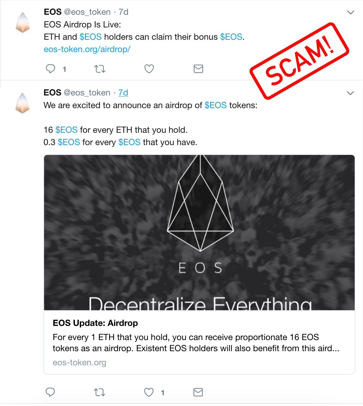 free coin Airdrop scam alert