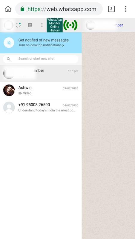 Whatsapp monitor last seen download history